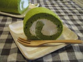 お抹茶★スフレロールケーキ
