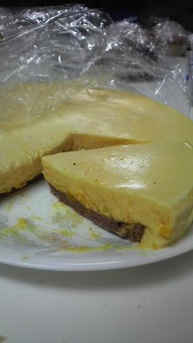 カボチャのホワイトチョコムースケーキ♪