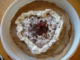 バレンタインに チョコクレープ