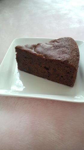 あんこのチョコケーキ