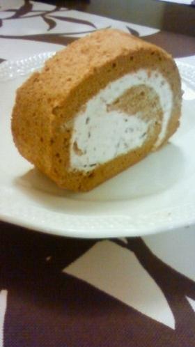 ★カフェモカロールケーキ★