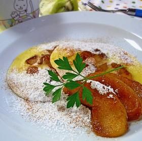 ヨーグルト風味の☆林檎のパンケーキ