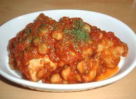 すごくおいしい!チキンとひよこ豆のトマト煮込み
