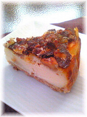 胡桃カラメル香ばしいベイクドチーズケーキ