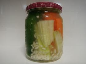 塩麹の簡単ピクルス しかもラッキョ酢