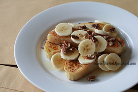 アメリカ バナナのフレンチトースト