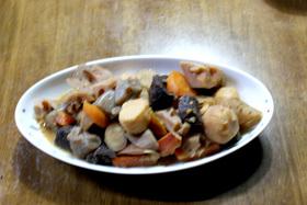イルカの味噌根菜煮