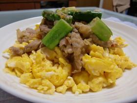 豚肉と卵の味噌炒め