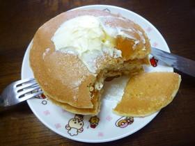 市販ホットケーキの美味しそうな食べ方☆