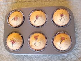 桜の花のカップケーキ☆メープルシロップ味