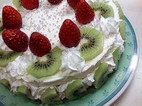 スポンジとレアチーズの爽(層)なケーキ