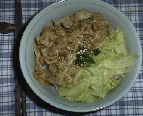 簡単!豚肉とショウガの丼