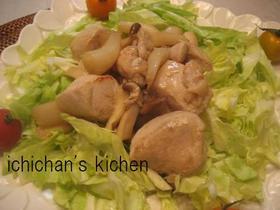 鶏むね肉と甘酢らっきょう炒め