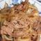 牛肉と玉葱の焼き肉オイスタピリ辛丼