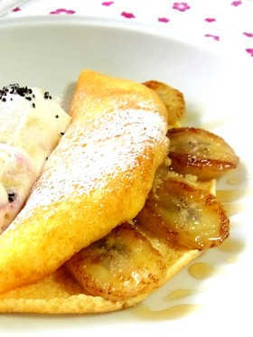 キャラメルバナナの☆半熟オムレットケーキ