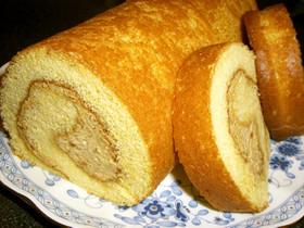 キャラメルバナナロールケーキ☆