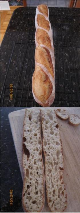 暇人のフランスパン焼き