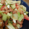 ビーンとサルサの昆布バナナ酢サラダ