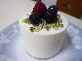 ヨーグルトたっぷり!レアチーズケーキ