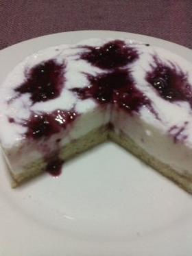 ヨーグルト(*^^*)ケーキ*カシス風味