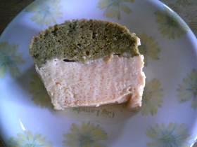 きなこと抹茶の2層ケーキ