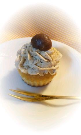 カップケーキでモンブラン