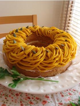かぼちゃモンブラン◇リングシナモンケーキ