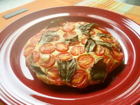 トマトとバジルのパンケーキ