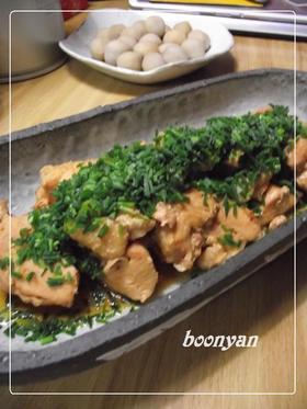 圧力鍋で10分♬ 鳥胸肉のやわらか煮❤。