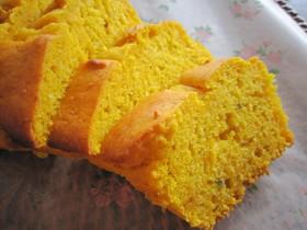 HMで。卵なし♪かぼちゃのパウンドケーキ