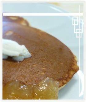 ペプシモンブランで作るパンケーキ。