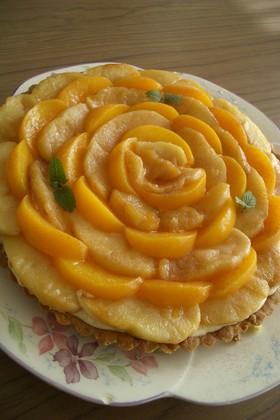 サクサク!りんごと桃のカスタードタルト