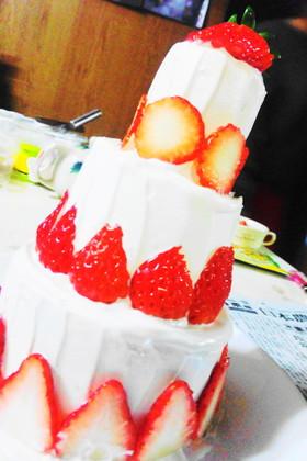 小さなタワーロールケーキ(^^)
