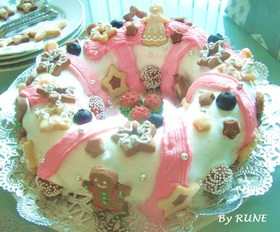 ☆天使のリース*スフレチーズケーキ☆