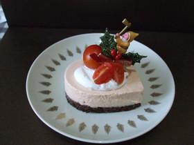 トマトのレアチーズケーキ☆