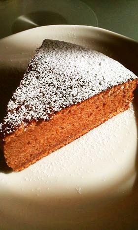 板チョコで♥スポンジケーキ
