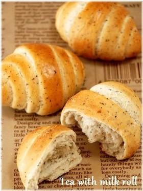 ミルクティーロールパン