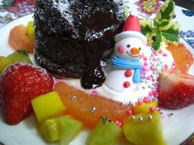 フォンダンショコラdeクリスマス風
