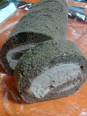 糖質制限 大豆粉のココアロールケーキ