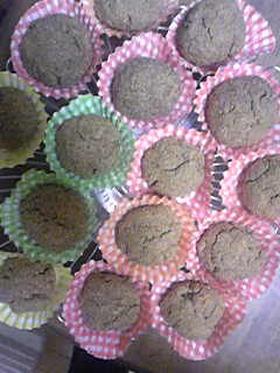砂糖なし☆米ぬかたっぷりカップケーキ