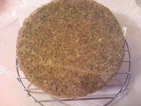ケーキ用スポンジ台:抹茶のジェノワーズ