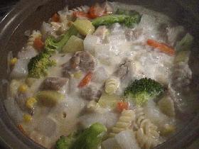 土鍋でミルクシチュー