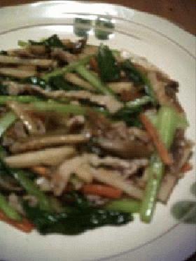 豚肉+タケノコのザーサイ炒め