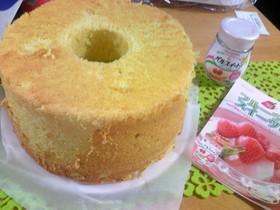 林檎のシフォンケーキ