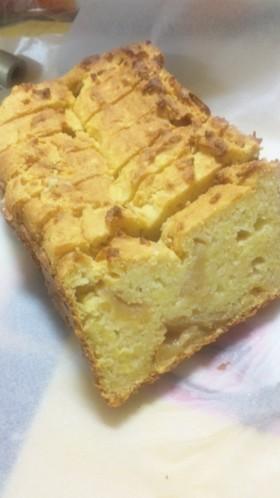 サツマイモと蜂蜜林檎の米粉おからケーキ