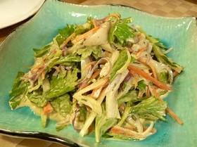 イカと香味野菜のマヨネーズサラダ
