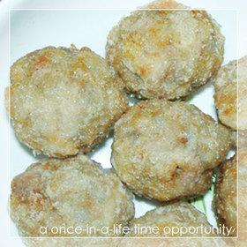 鶏レンコン団子