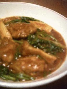 鶏肉+ほうれん草のカレー煮