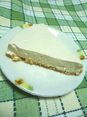 黒砂糖の優しい甘さ♫豆腐入りチーズケーキ