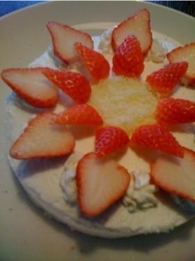 スポンジ生地ーイチゴショートケーキ